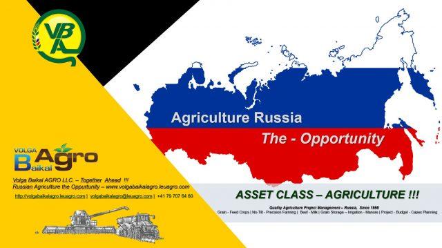 ASSET CLASS – AGRICULTURE  !!!