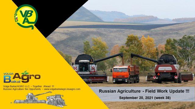Volga Baikal AGRO News Update on the Russian Field Work Progress !!!